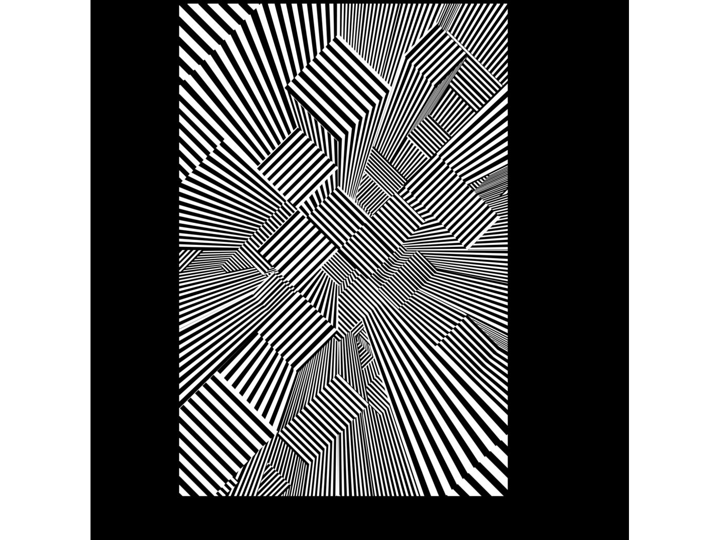 Модульная картина Трехмерный лабиринт (20x30) фото
