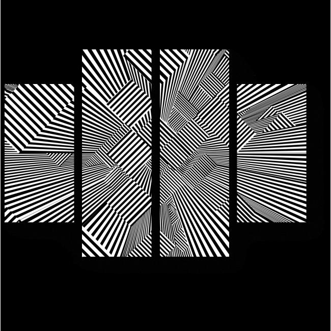 Модульная картина Трехмерный лабиринт