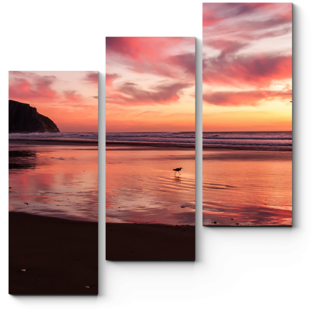 Модульная картина Алый закат