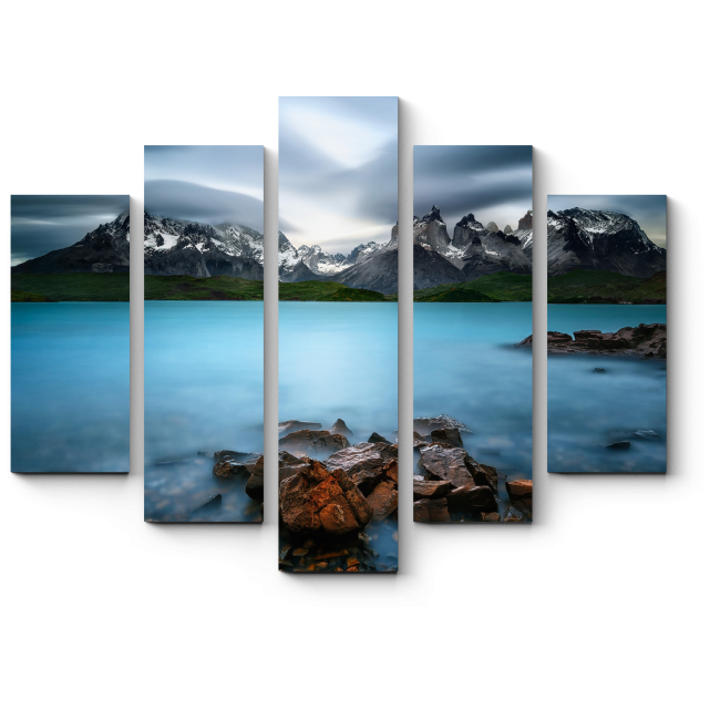 Модульная картина Магическое горное озеро