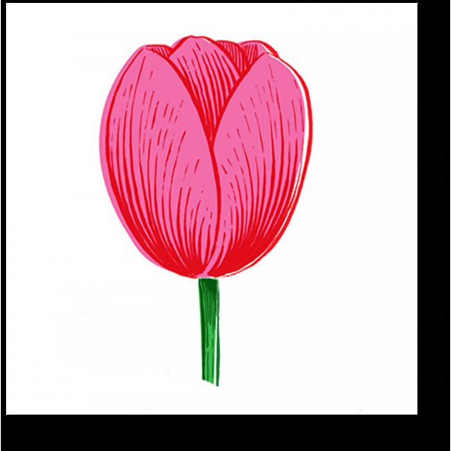 Модульная картина Розовый бутон цветка