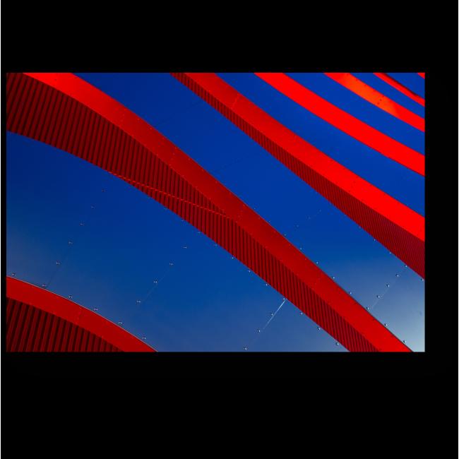 Модульная картина Сочетание красного и синего