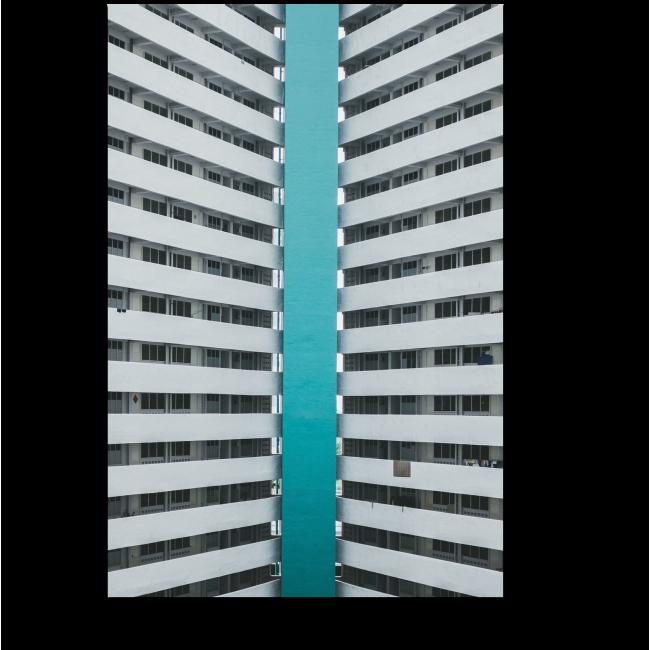 Модульная картина Бирюзовая линия