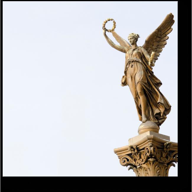 Модульная картина Изящная статуя