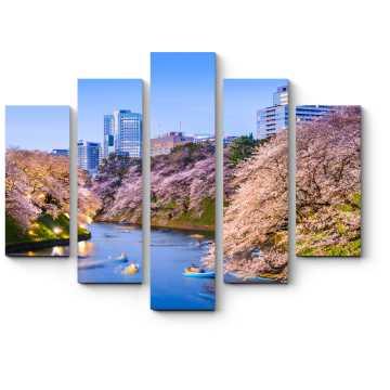 Модульная картина Прекрасная весна в Токио