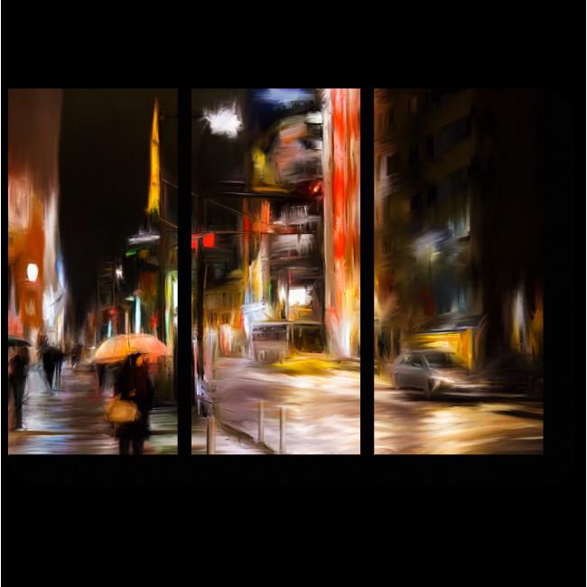 Модульная картина Дождь в Токио
