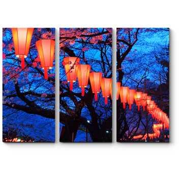Магический свет огней в парке Уэно, Токио