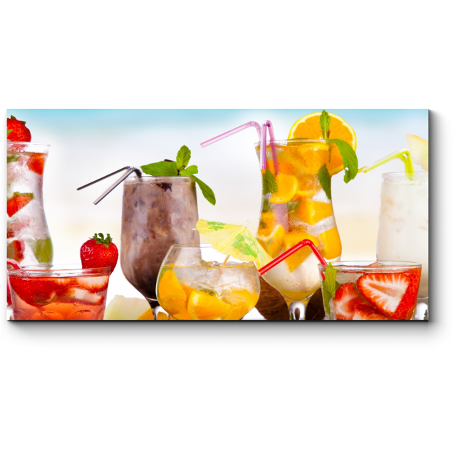 Модульная картина Вкусные коктейли