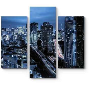 Токийские небоскребы ночью