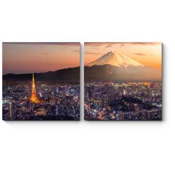 Модульная картина Ночной Токио