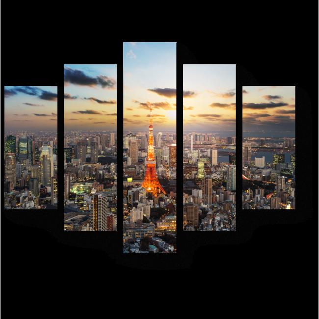 Модульная картина Токио никогда не спит