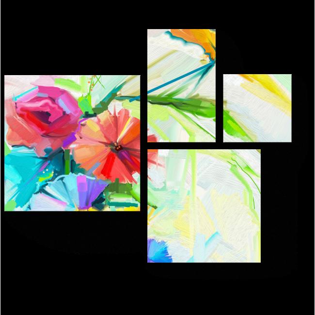 Модульная картина Весенний букет  в стиле Имрессионизм