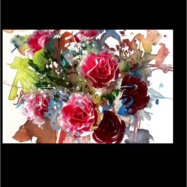 Модульная картина Букет из роз