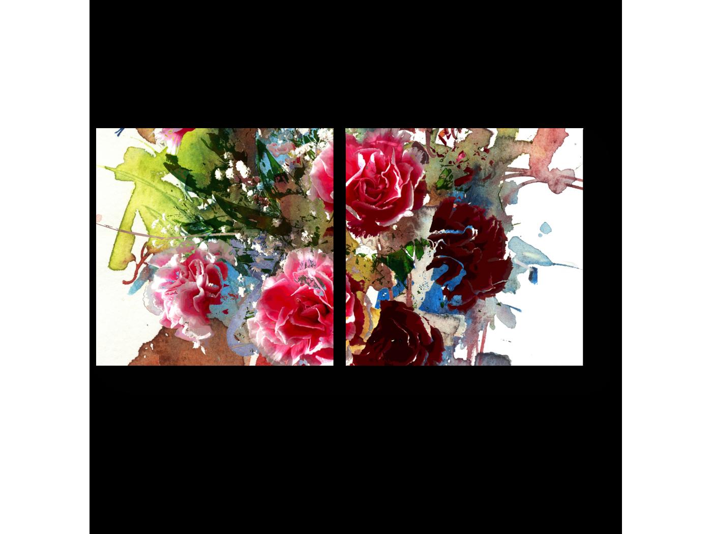 Модульная картина Букет из роз (40x20) фото