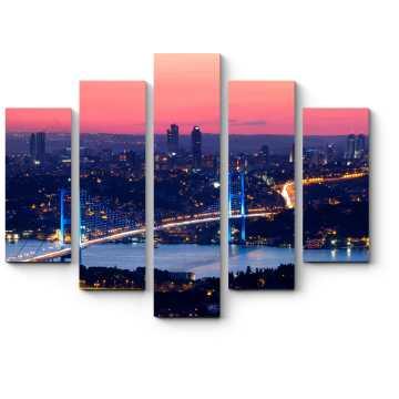 Модульная картина Волшебный закат в Стамбуле