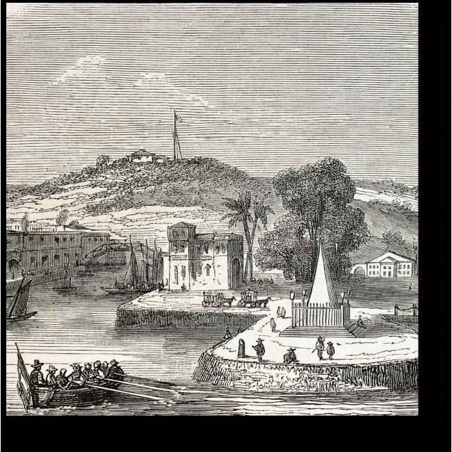 Модульная картина Сингапур в 1857 году