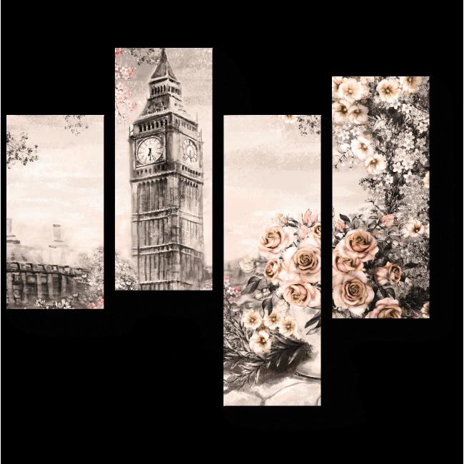 Модульная картина Винтажный Лондон