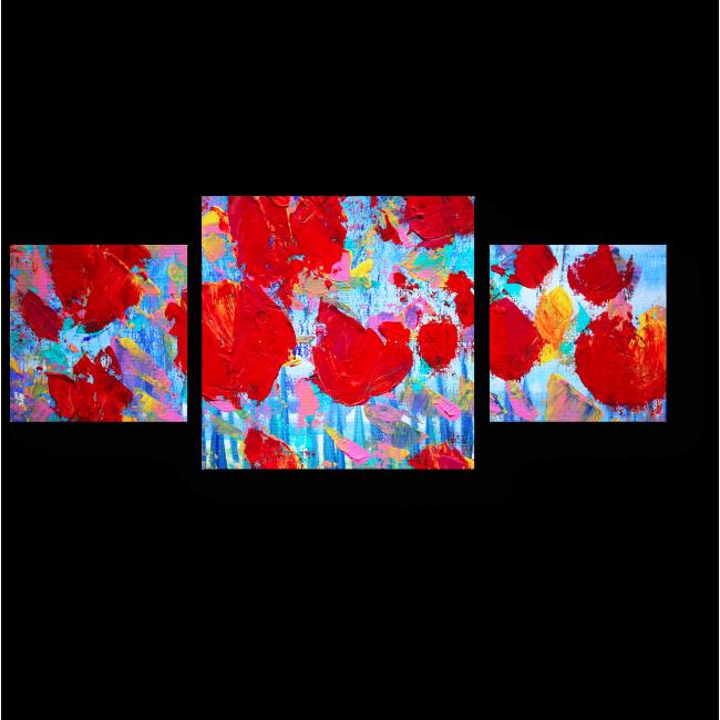 Модульная картина Доминирующий красный