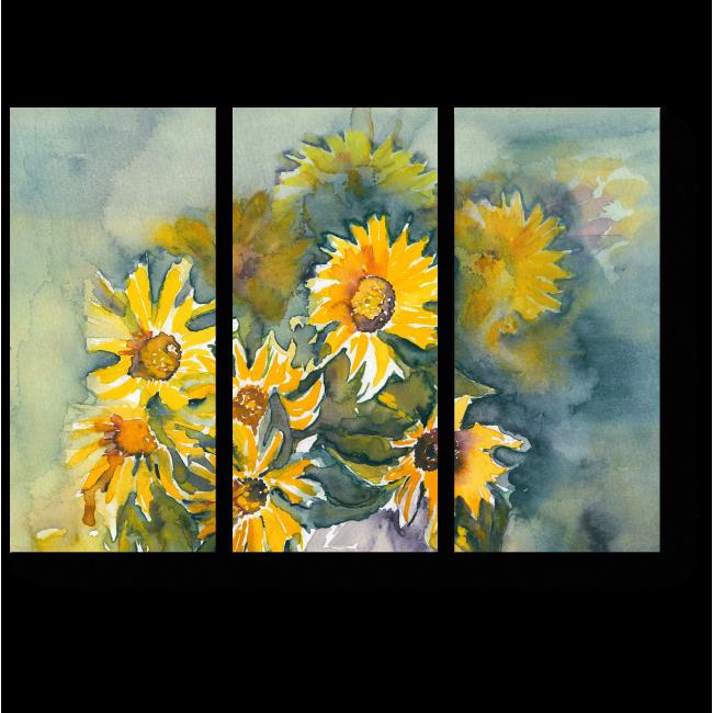 Модульная картина Букет подсолнухов