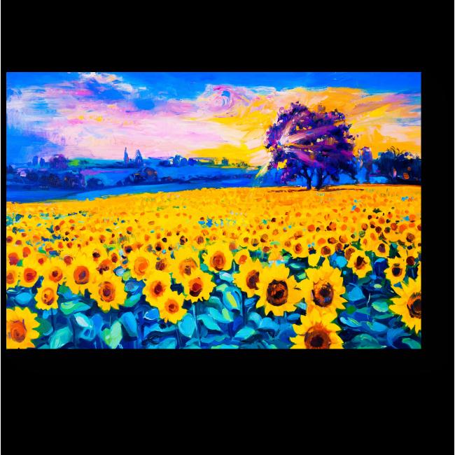 Модульная картина Подсолнухи в стиле импрессионизм