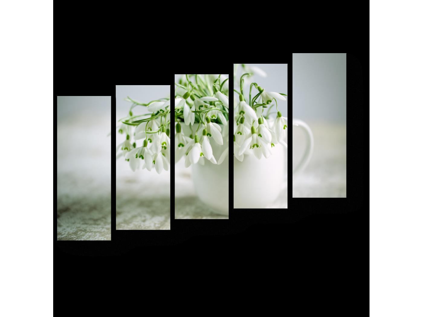 Модульная картина Весенние первороходцы (90x63) фото