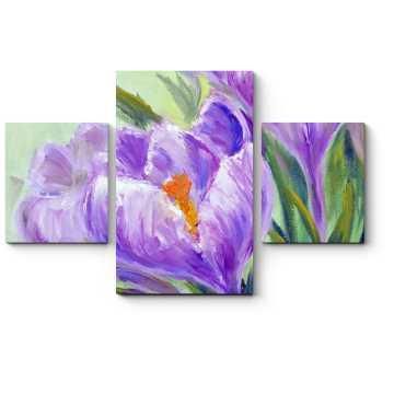 Цветы, нарисованные маслом