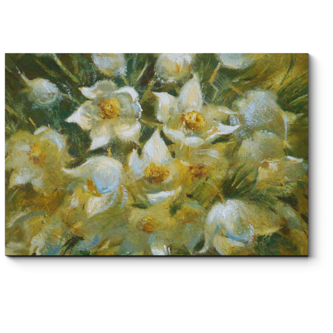 Модульная картина Первые цветы весны в прозрачной вазе