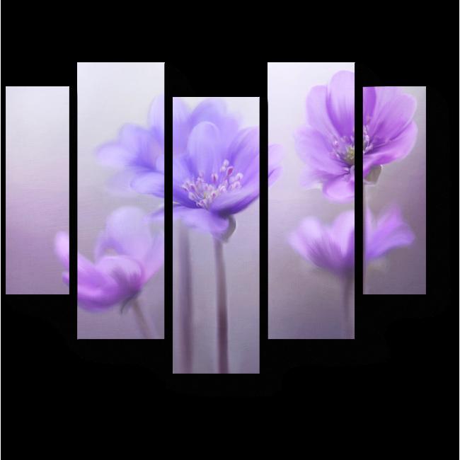 Модульная картина Первые цветы весны