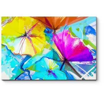 Весенние цветы, импрессионизм, масло