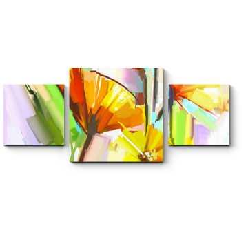 Модульная картина Цветочная импровизация в стиле импрессионизм