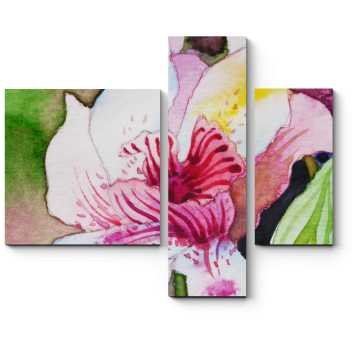 Модульная картина Изумительные переходы цвета орхидеи