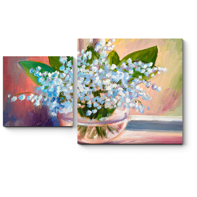 Модульная картина Весны прекрасные цветы