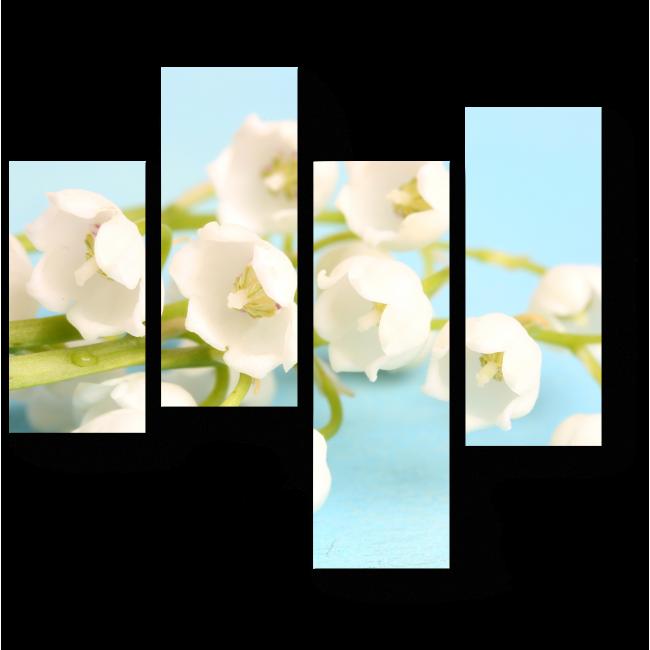 Модульная картина Белоснежная красота