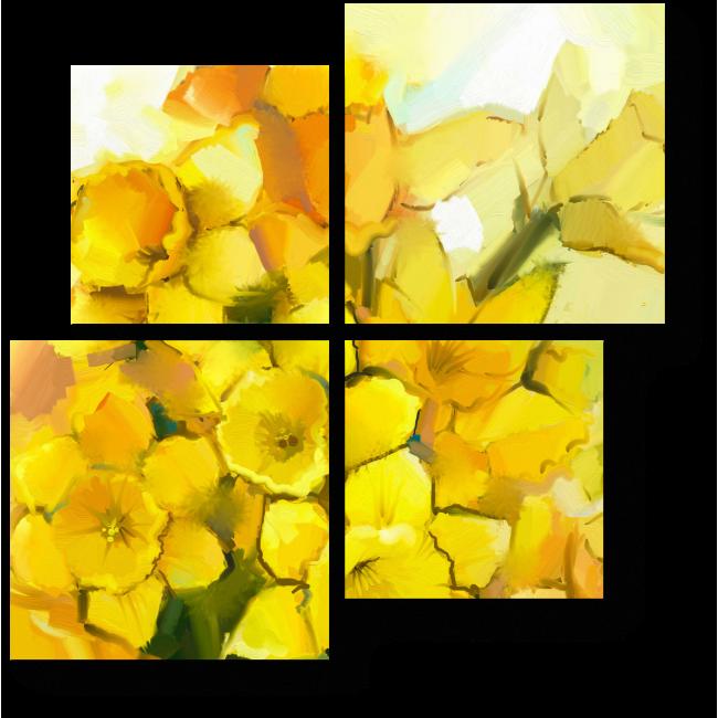 Модульная картина Солнечный букет нарциссов