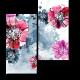 Винтажные романтические цветы, акварель