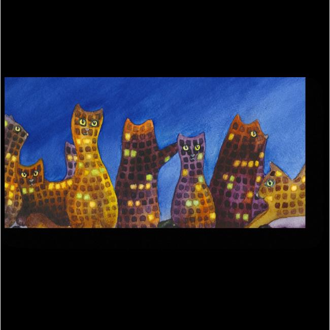 Модульная картина Стражники ночи