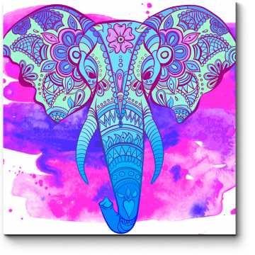 Индийский арт слон