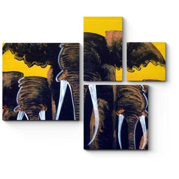 Могучее трио слонов