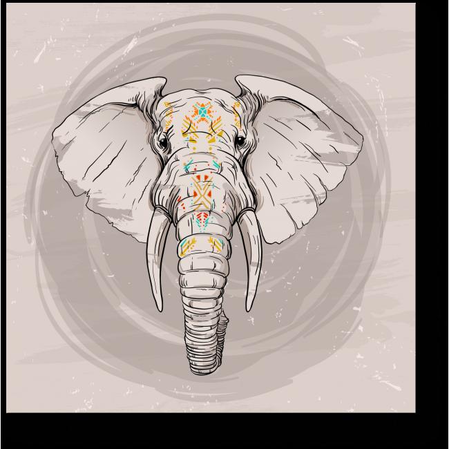 Модульная картина Стильный слон
