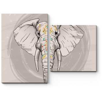 Стильный слон