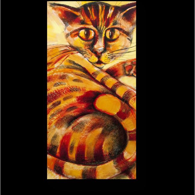 Модульная картина Апельсиново-полосатый кот