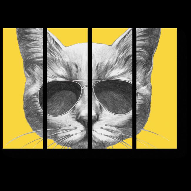 Модульная картина Просто серый кот в очках