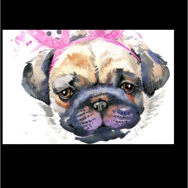 Модульная картина Милый щенок с заячьими ушками