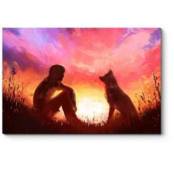 Встречаем закат с верным другом