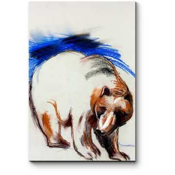 Модульная картина Обаятельный косолапый мишка