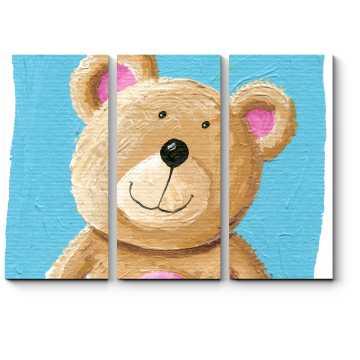 Модульная картина Мишутка Тедди ищет друзей