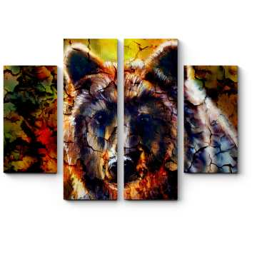 Модульная картина Грозный страж леса