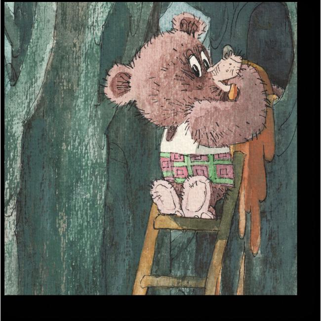 Модульная картина Маленький воришка - сладкоежка