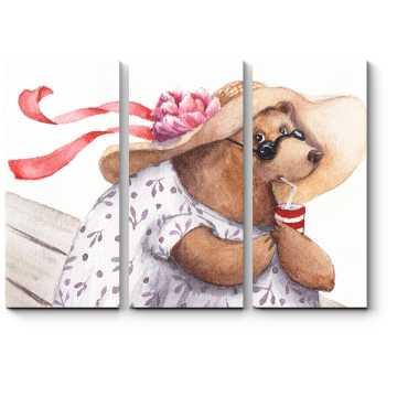 Модульная картина Леди Медведица на отдыхе