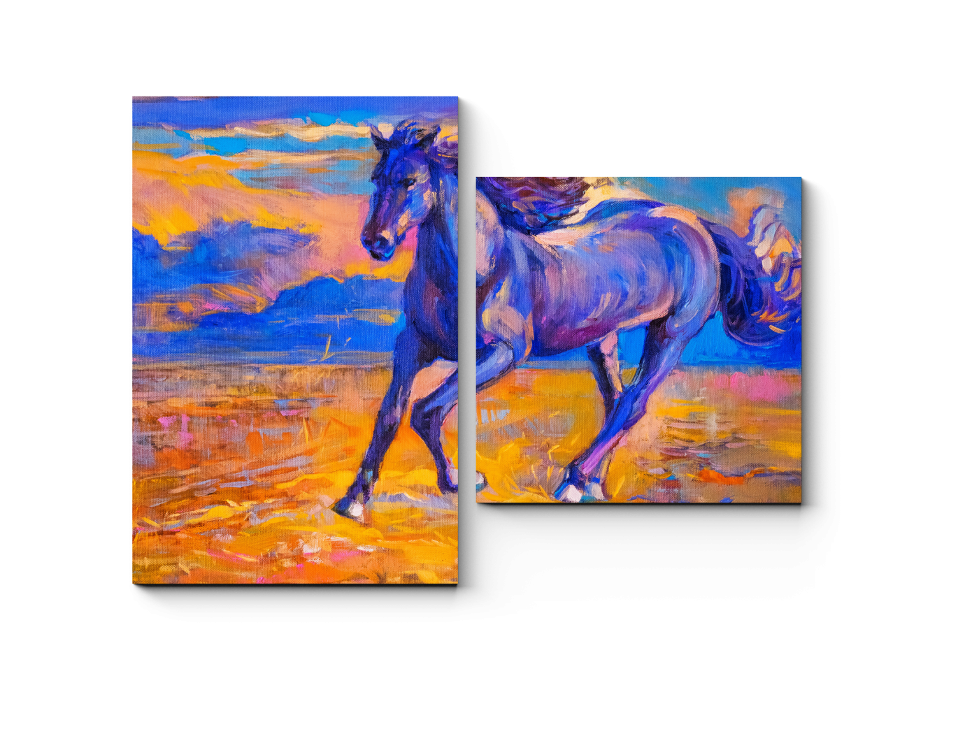 Модульная картина Величественный жеребец (40x30) фото